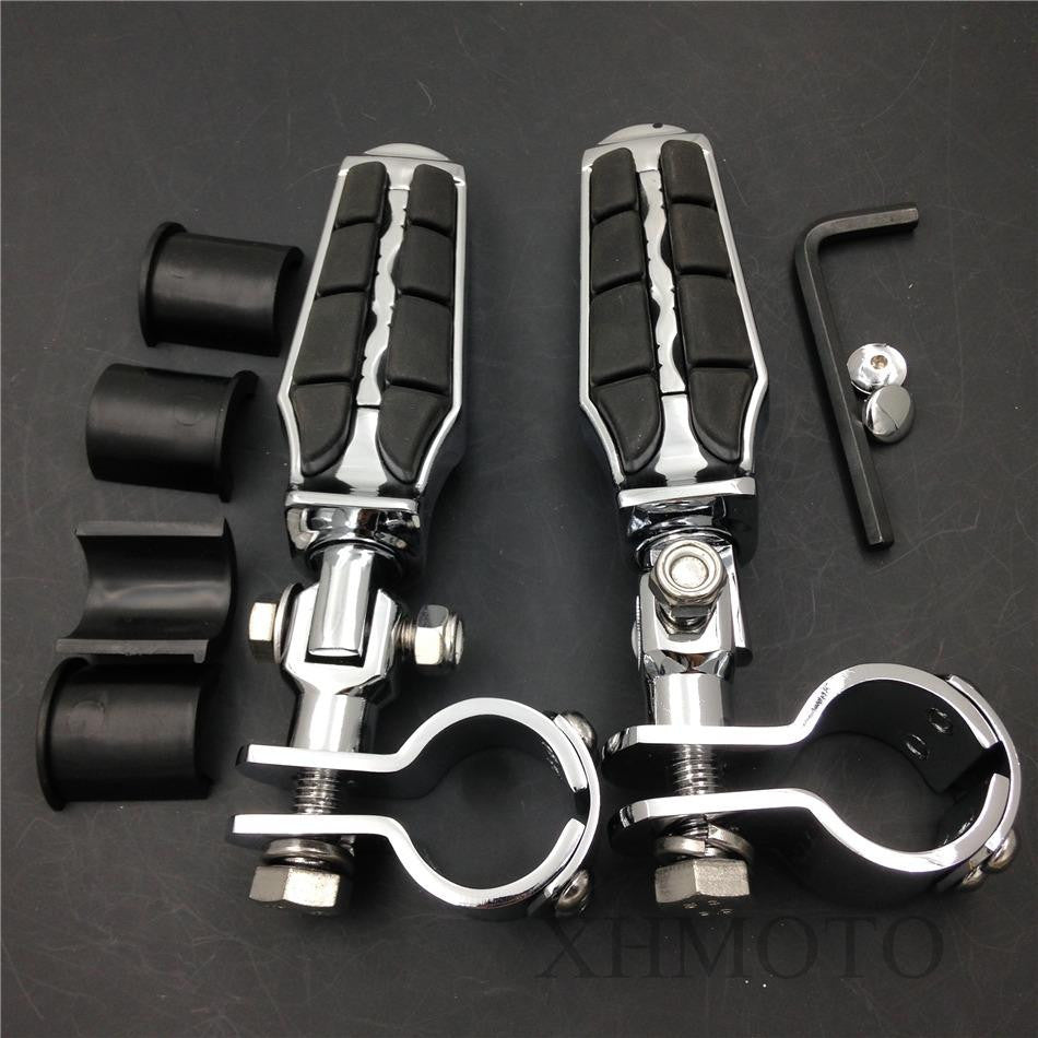 "1"" 1 1/4"" Highway Tombstone Clamp Foot pegs for Honda GL1800 1500 1100 1200 01-12"