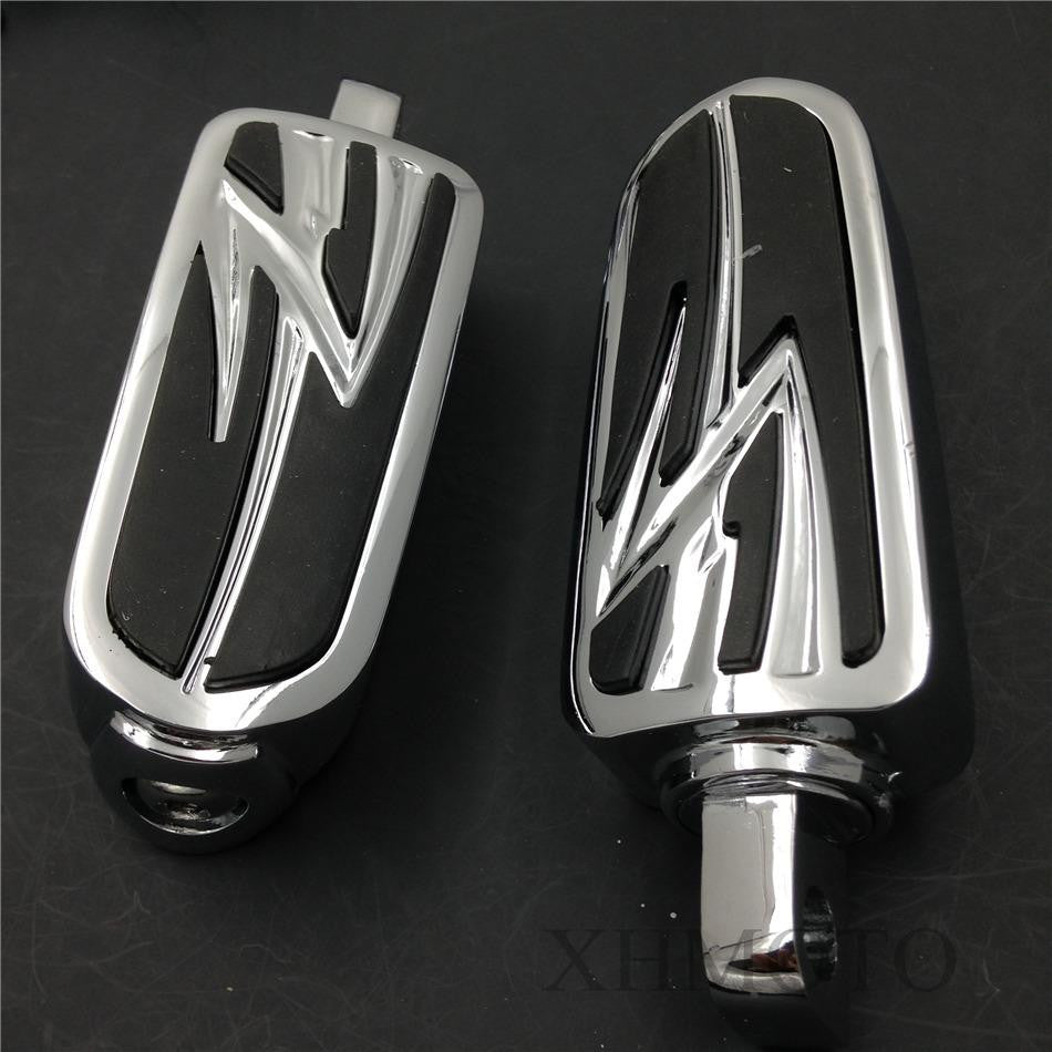 "1 1/4"" Highway Flame Foot Pegs P Clamps For Harley Sportster 883 1340 XL1200"