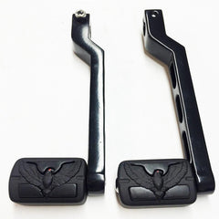 HTT Motorcycle Black Aluminum Heel//Toe Shift Levers For Harley Davidson Tour Glide 1988 and later