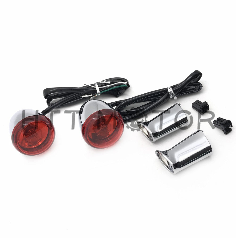HTTMT- Motorcycle Heavy Billet Aluminum Rear Turn Signal Light Indicator For 1992-2016 Harley Davidson Sportster XL 883 1200