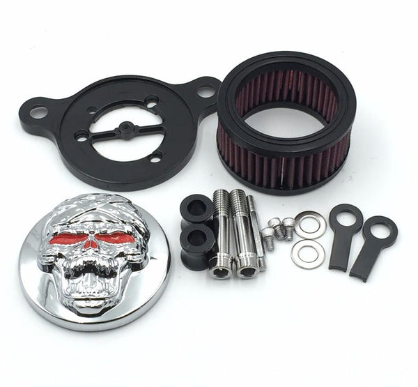 HTT Chromed Skull Zombie Special Eyes Air Cleaner Intake Filter System Kit For Harley Sportster XL883 XL1200 1988-2015