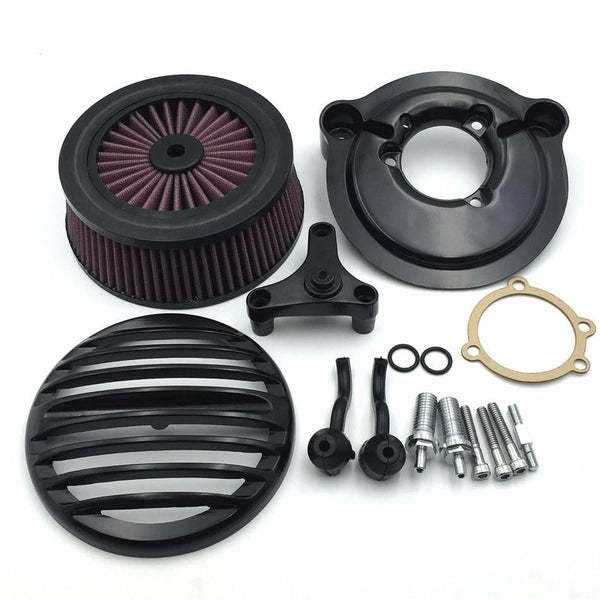 HTT Motorcycle Black Grille Air Cleaner Intake Filter System Kit For Harley Davidson 2007-later XL Sportster 1200 Nightster 883 XL883 Low XL1200L Seventy Two Forty Eight