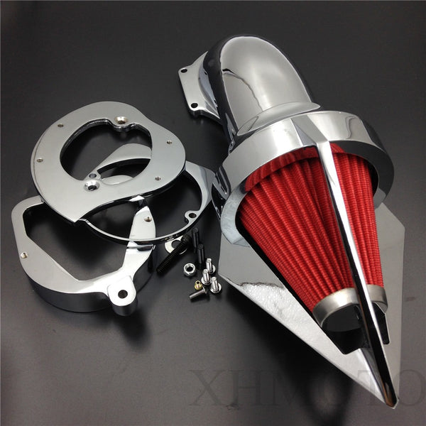 Triangle Spike Air Cleaner Kits Intake Filter For Honda Spirit Ace 750 1998-2013 Chrome