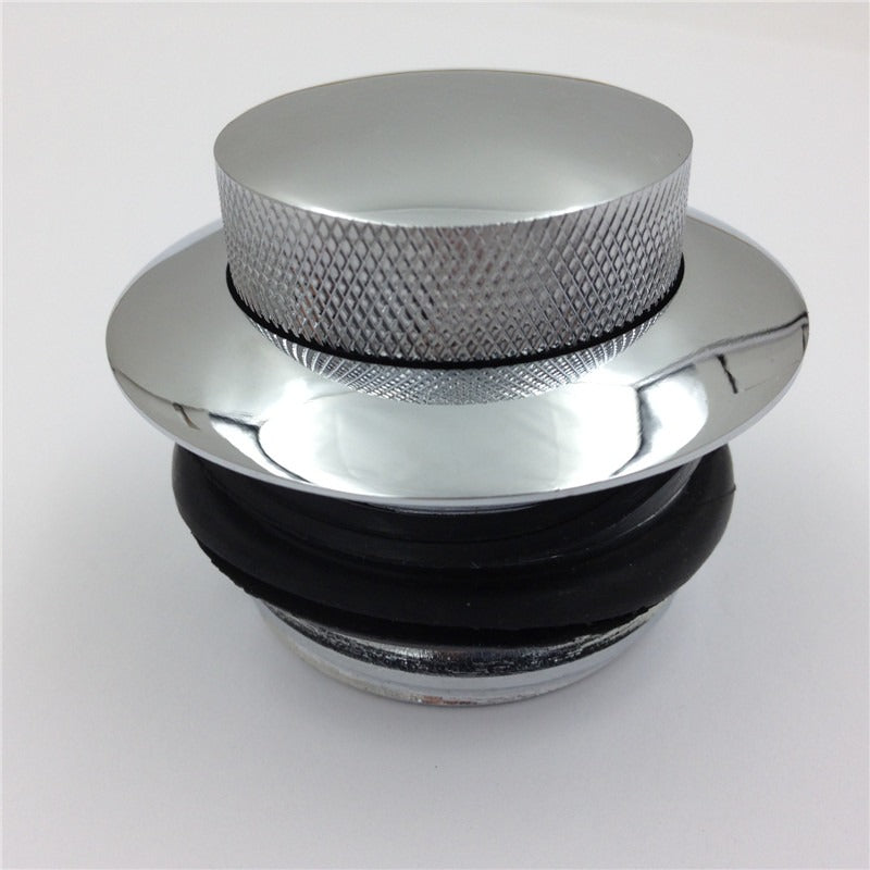 HTT Motorcycle Chrome Pop Up Gas Cap Vented Fuel Tank Cap REGULAR THREAD  For 1982-2010 Harley Davidson