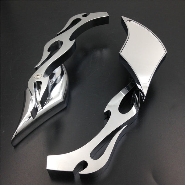 Motor Alloy TWIST DIAMOND Custom Mirror Harley Davidson softail FatBoy Sportster chromed