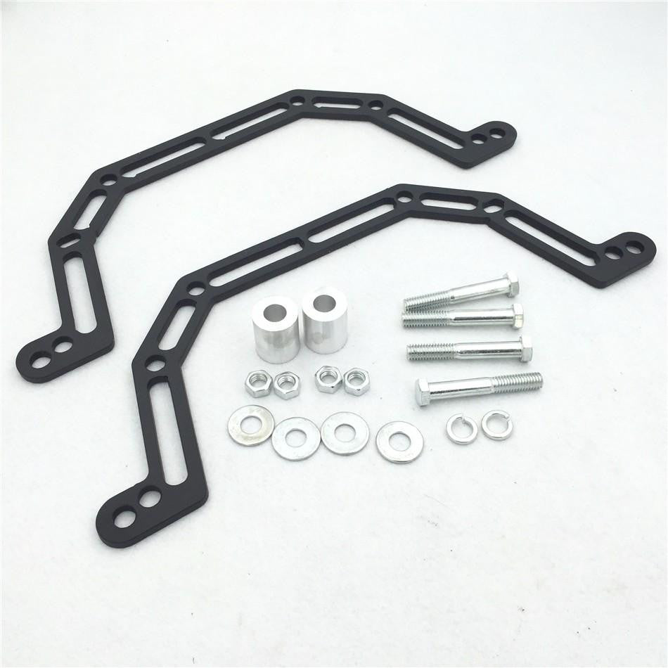 "HTT Motorcycle Black 2003 2004 2005 2006 2007  Lowering Kit Lowers Front Suspension 4"" and Widens by 2"" Fit For Polaris Predator 500"