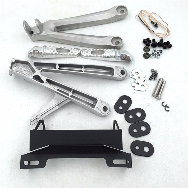 Polish FootPeg Rest Brackets Fender Eliminators for 2005 2006 Honda CBR600RR