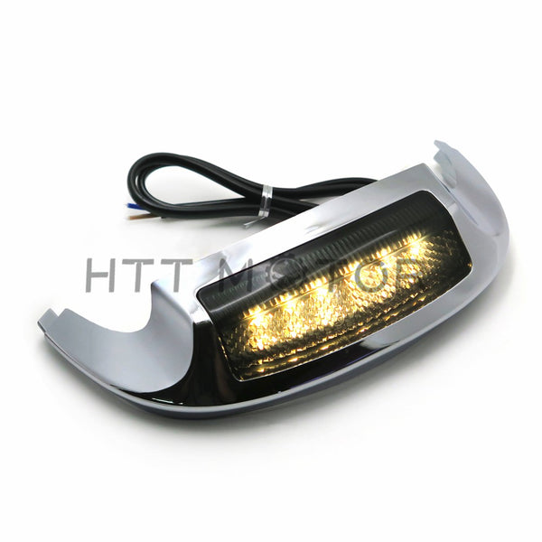 HTTMT- Front LED Fender Tip Light Smoked Lens for Harley Street Glide FLHX FLHXS 14-17