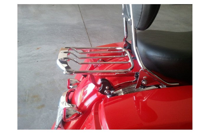 Chrome 2 Up Air Wing Luggage Rack For Harley Street Glide Road Glide FLTR FLHX