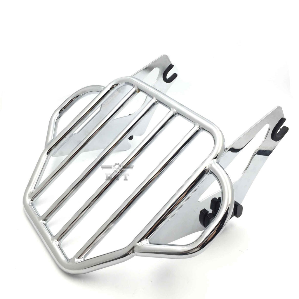 HTT Motorcycle Chrome King Detachables Two-Up Luggage Rack For 2009-2016 Touring Road King / Street Glide / Road Glide