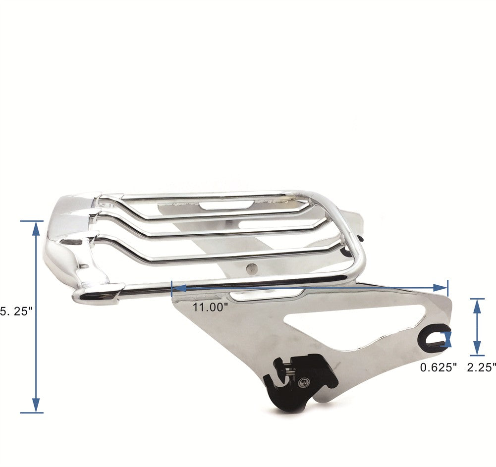 Motorcycle Chrome Detachables Luggage Rack For Harley 09-later Touring Road King / Road Glide/ Street Glide (Need Docking, Sold Seperate)