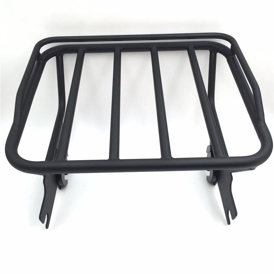 HTT Motorcycle Black Detachable Adjustable 2 Up Tour Pak Luggage Mounting Rack For Harley Touring Electra Glide Road King FLHT FLHX FLTR 1997-2008