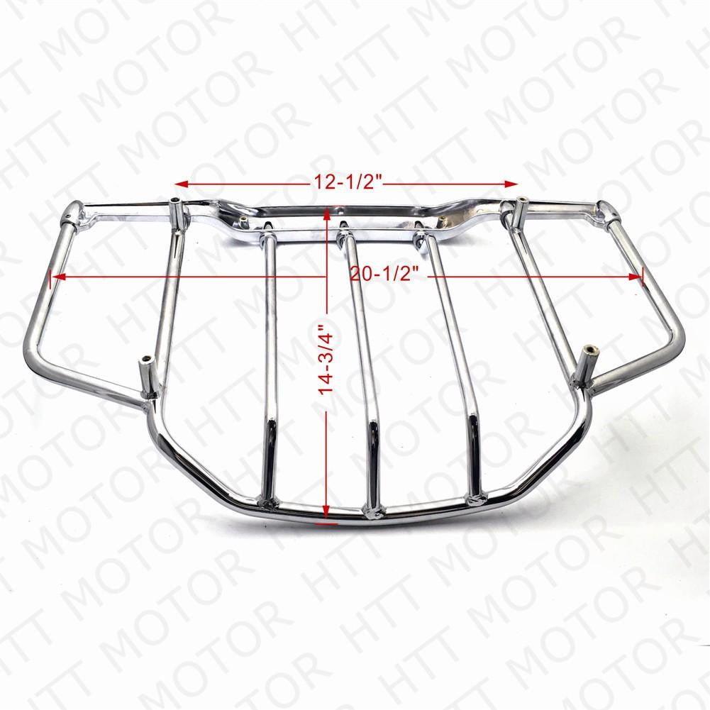 Air Wing Tour Pak Luggage Rack Rail Chrome For Harley Touring FLHT FLHX FLHR FLTR