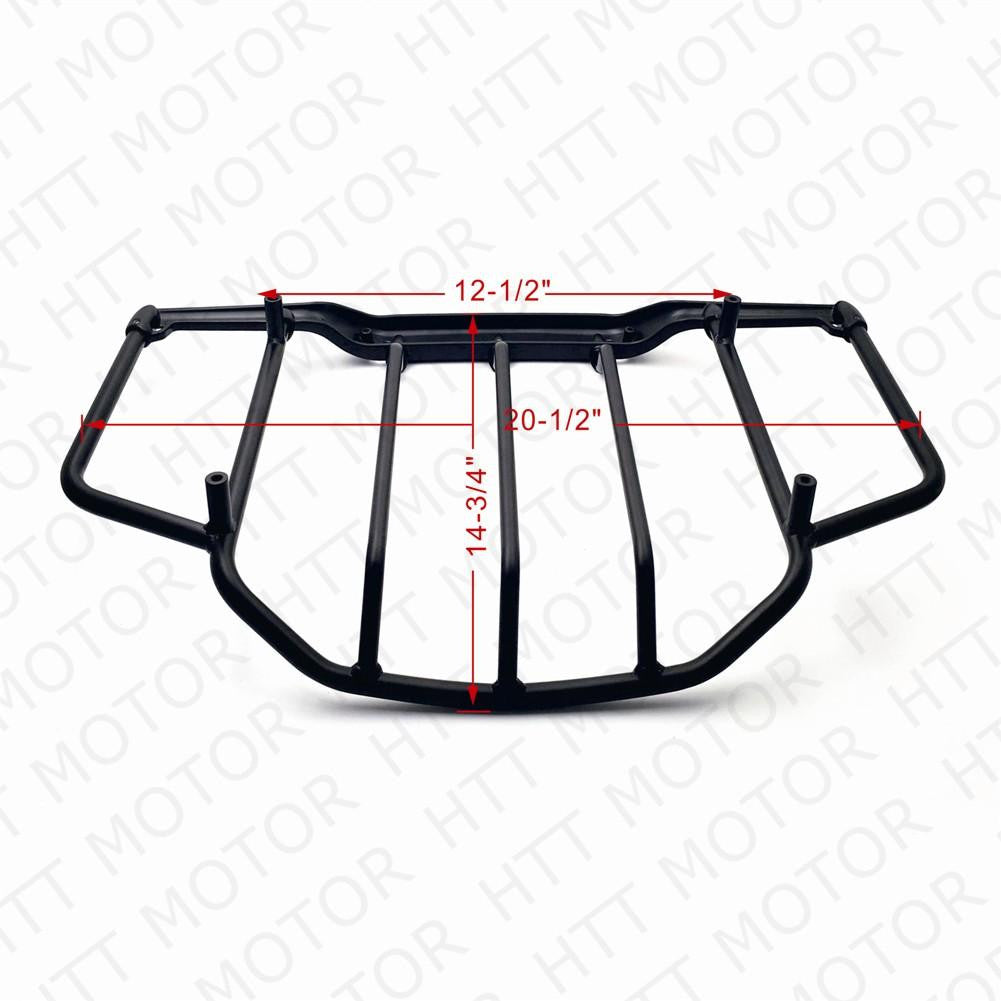 Air Wing Tour Pak Luggage Rack Rail Flat Black For Harley Touring FLHT FLHX FLHR FLTR