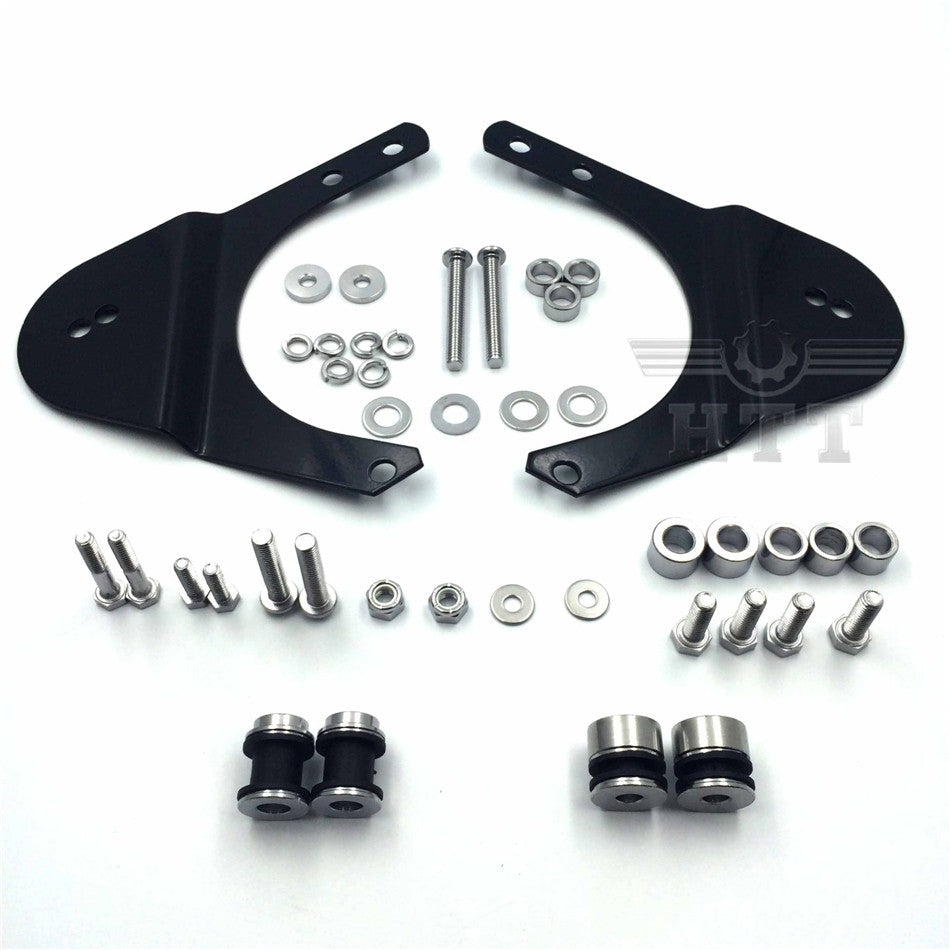 HTT Rear Docking Hardware Kit For 1997-2008 Harley Davidson Touring Road King Road Glide Electra Glide Standard Street Glide - Black