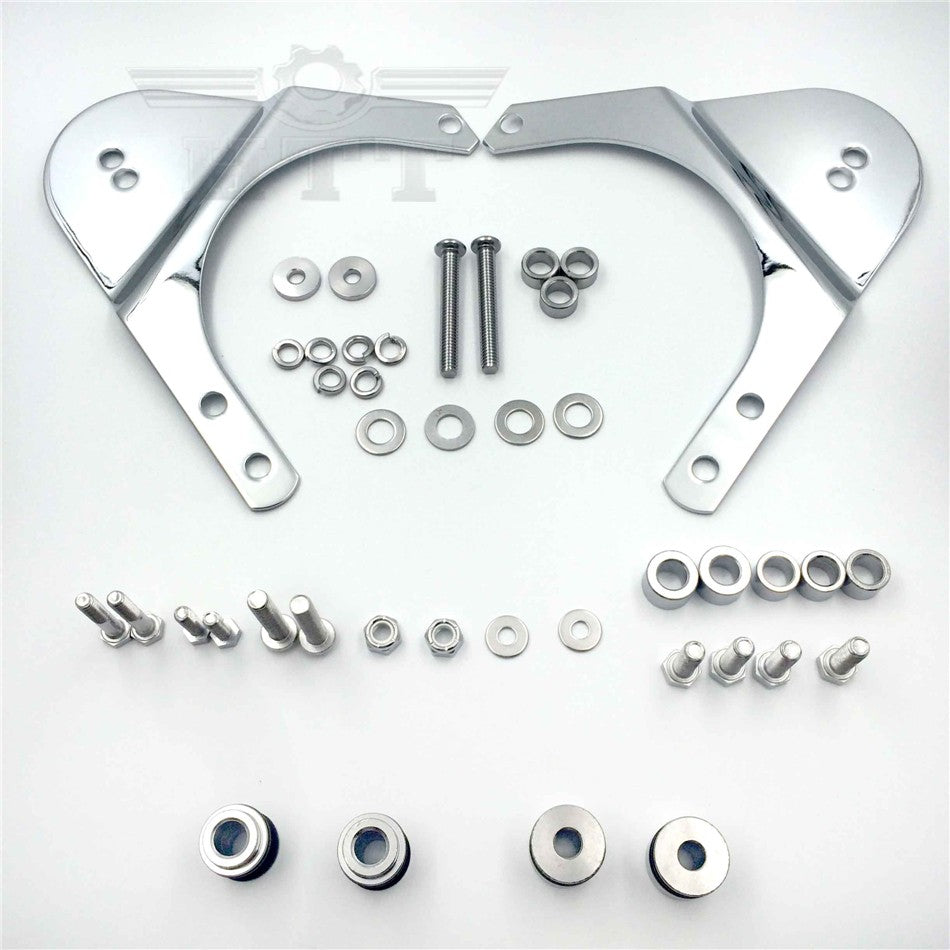 HTT Rear Docking Hardware Kit For 1997-2008 Harley Davidson Touring Road King Road Glide Electra Glide Standard Street Glide(except FLHTCUI and '07-'08 FLHRSE) - Chrome