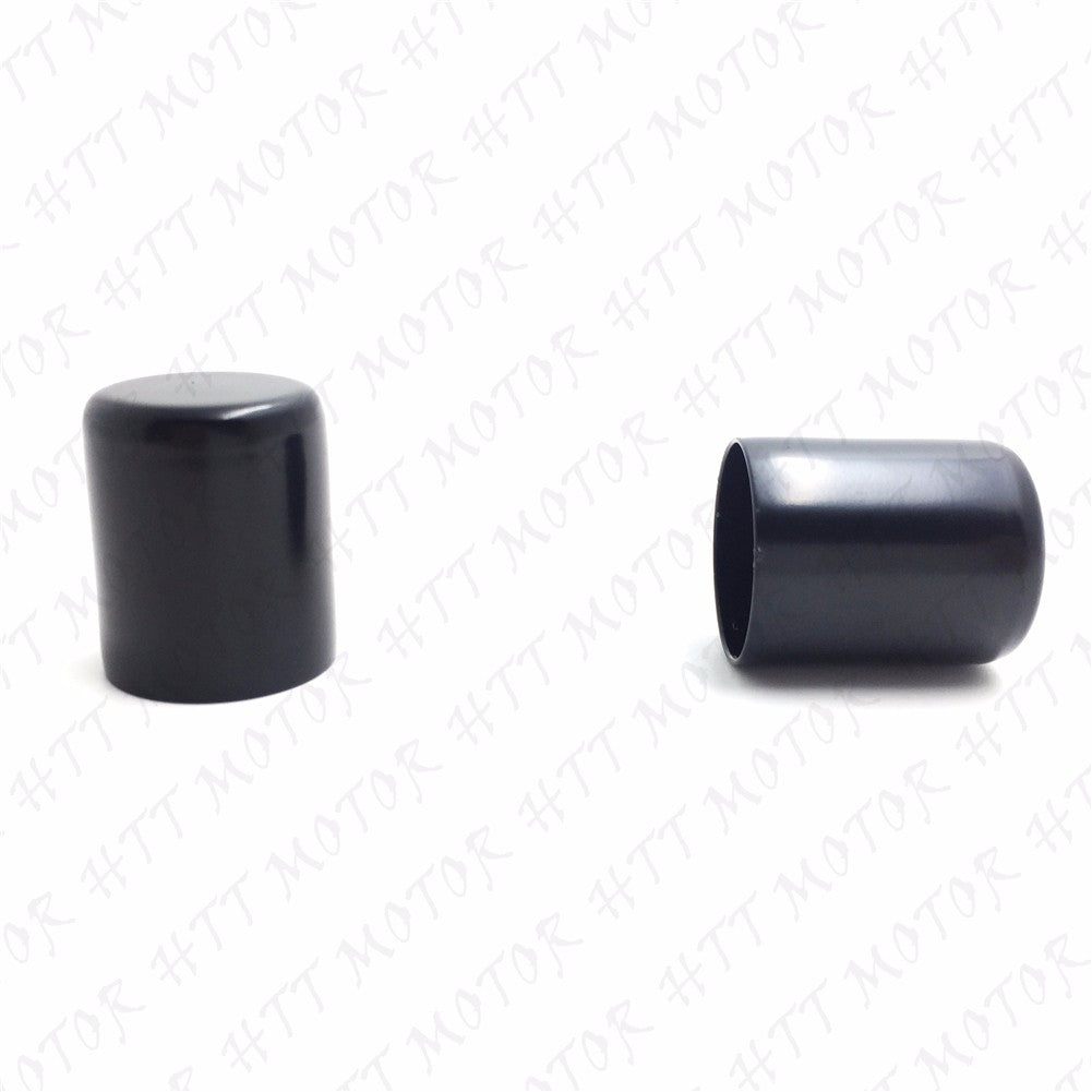 Pair Docking Hardware Point Cover For Harley Touring Sportster Softail Dyna Black