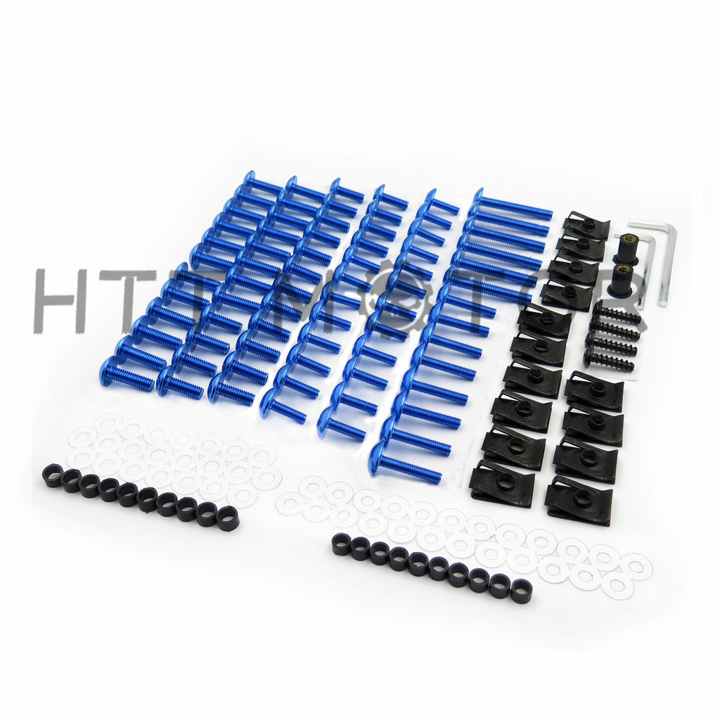 HTTMT Complete Fairing Bolts Screws Fasteners Kit For Yamaha Yzf R1 R6 F6R Fz1 Fz8 Blue