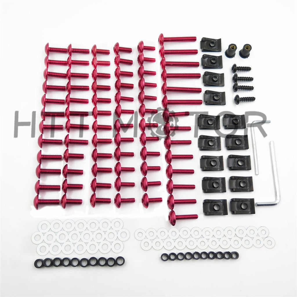 HTTMT Complete Fairing Bolts Screws Fasteners Kit For Yamaha Yzf R1 R6 F6R Fz1 Fz8 Red