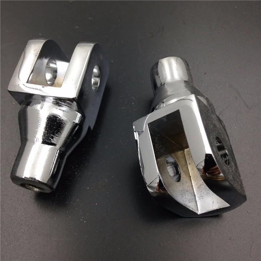 Chrome Foot Pegs installation Part Connection Fittings for Honda GL1800 Suzuki Boulevard M50 Volusia 800