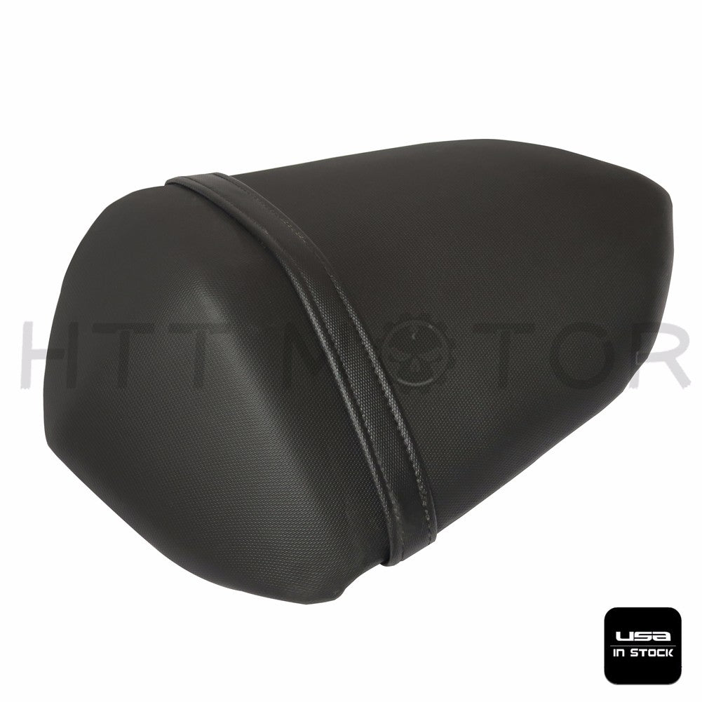 HTTMT- Black Leather Passenger Back Rear Seat Pillion For 2007-2009 Kawasaki Z1000