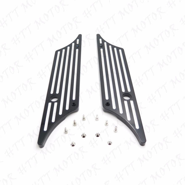 Black Billet Saddlebag Latch Cover For All Harley Touring Hard Bags 1993-2013