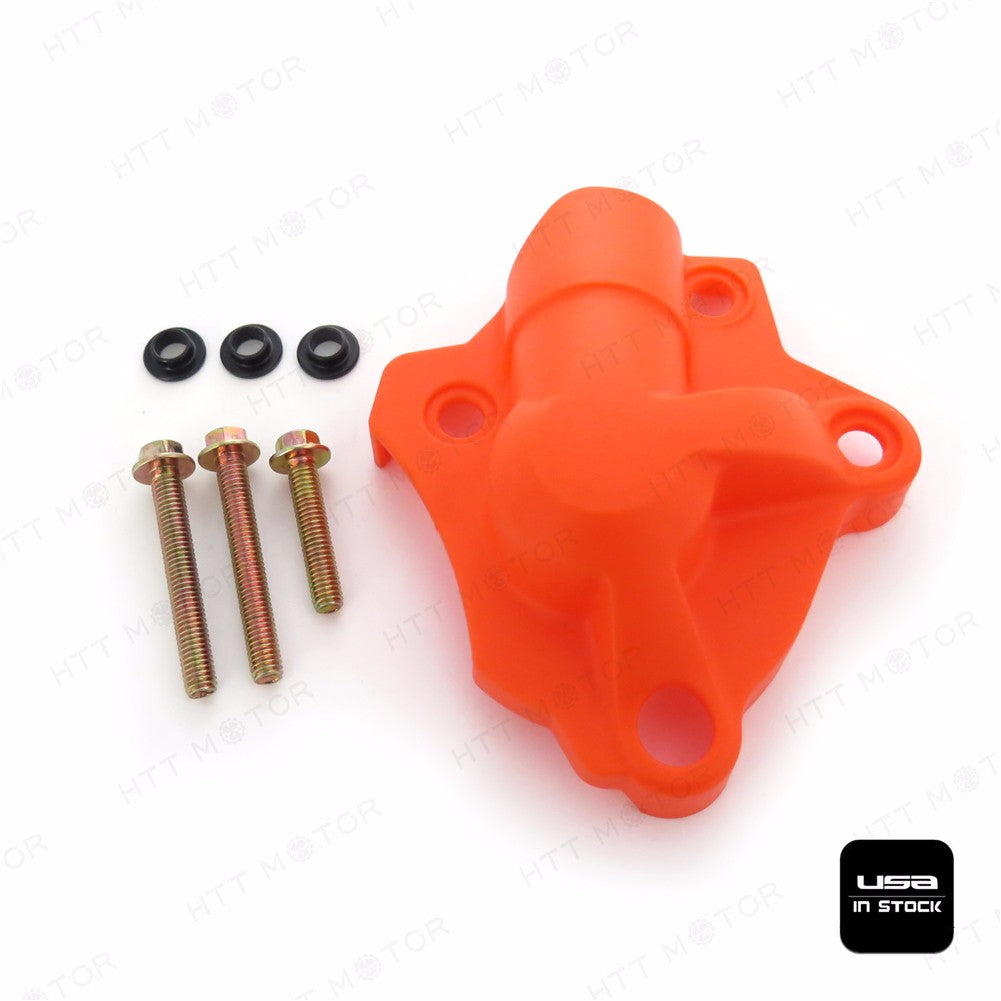 Orange Water Pump Cover Protector Fit KTM 250 EXC-F 350 XCF-W SIX DAYS 2014-2016