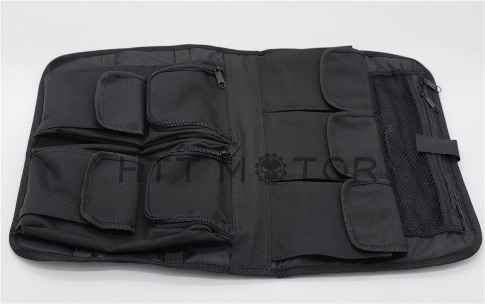 HTTMT- Tour Pack Lid Organizer Soft Black Bag For Harley Davidson Touring