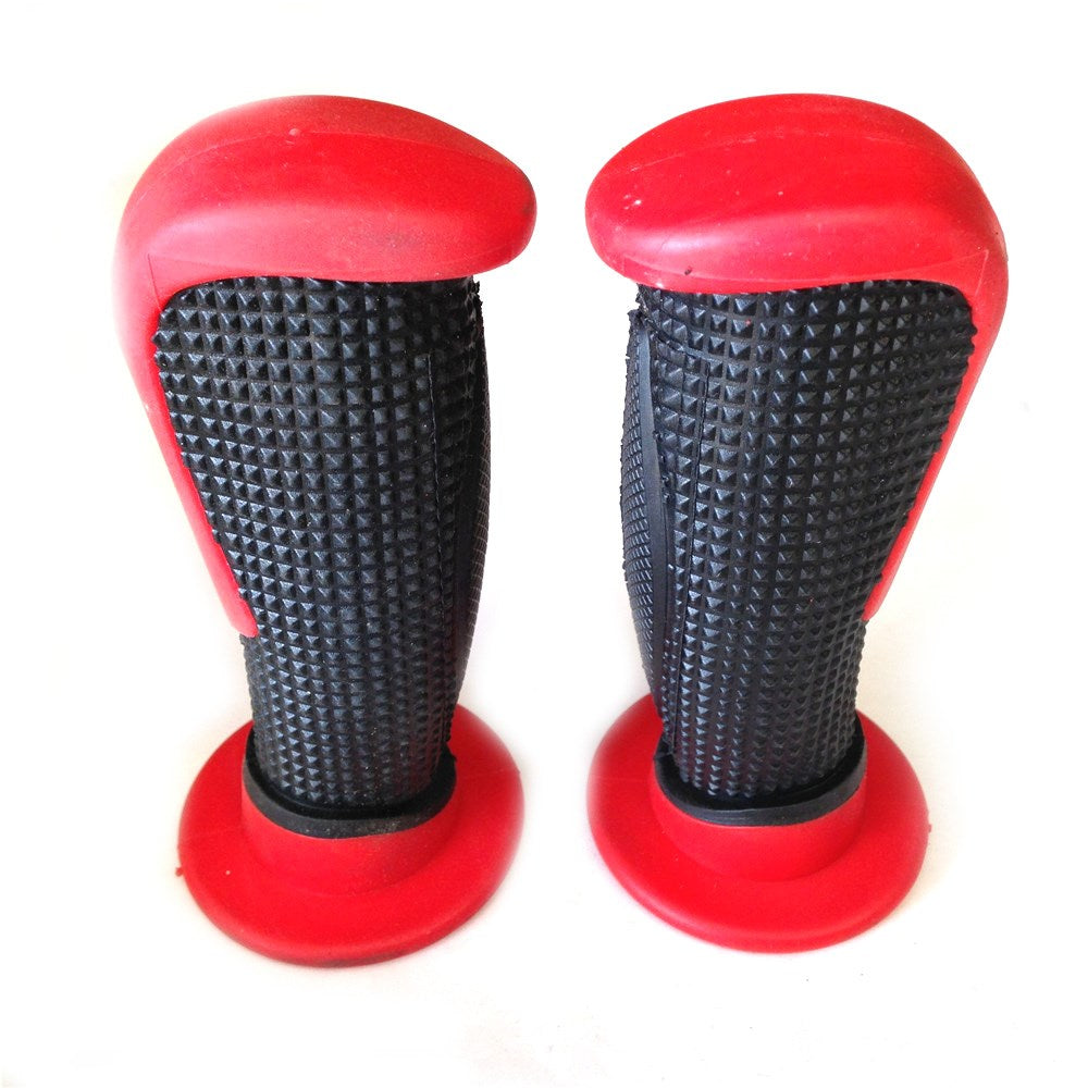 "Sport Bike Dirt Bike Motorcycle H Grips BLACK  Red MOTORCYCLE APRILLA BMW DUCATI TRIUMPH HONDA Polaris Suzuki Yamaha Dirt Bike Offroad KTM DIRT BIKE(7/8"" LEFT 1"" RIGHT)"