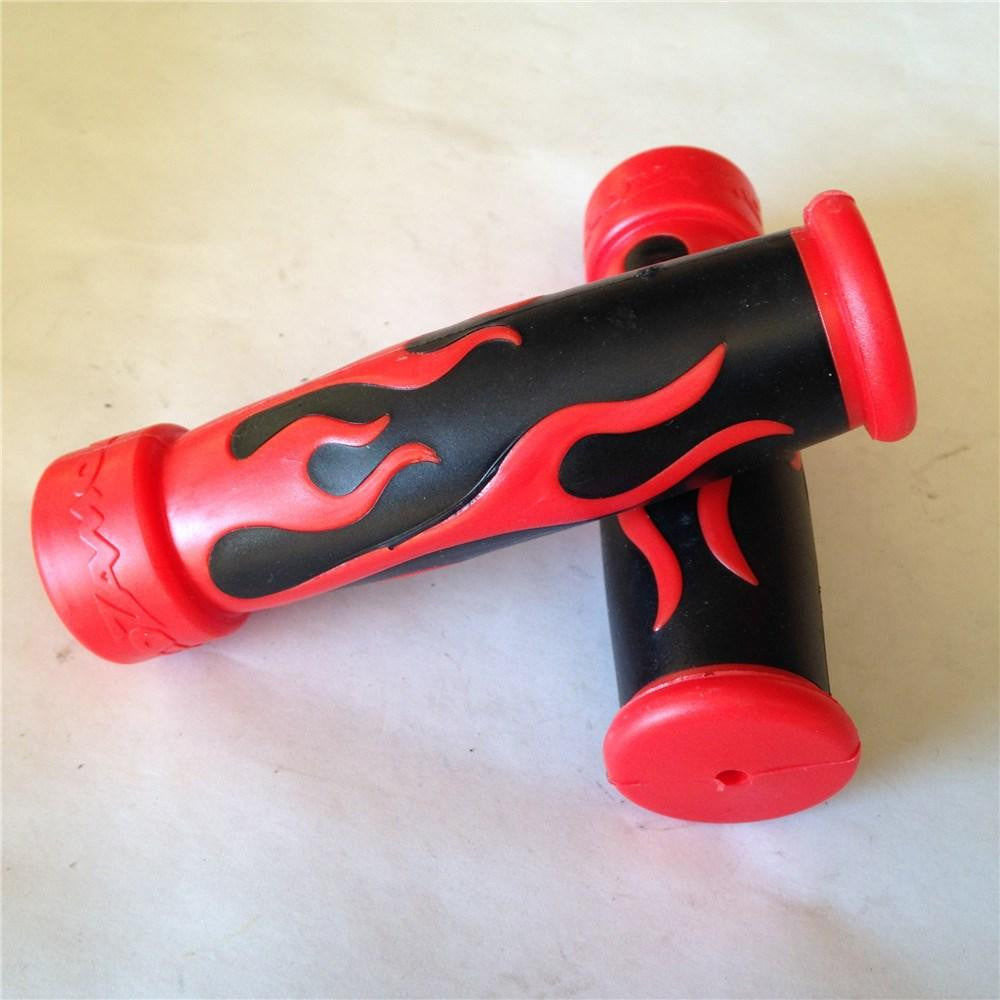 "FIRE Gel Style Grips RED ATV QUAD KAWASAKI POLARIS SEADOO WATERCRAFT BOMBARDIER JET SKI HONDA FOREMAN RECON RINCON Brute Force Prairie YAMAHA ATV BRUIN GRIZZLY KODIAK(7/8""BOTH SIDE)"