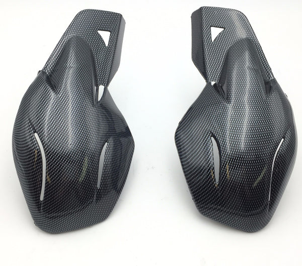 "HTT Motorcycle Carbon Fiber Hard Plastic Reinforced Hand Guards 7/8"" 22mm  For Snowmobile Polaris RMK Ski-Doo Sno Pro Vector Phaser Indy Honda Yamaha Suzuki KTM ATV"