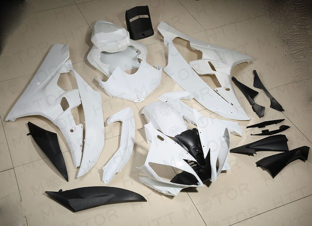 New UNPAINTED ABS Fairing Cowl Bodywork Set For YAMAHA YZF R6 YZF-R6 2006 2007