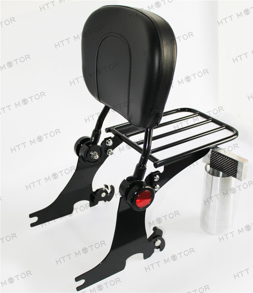HTTMT- Detachable Backrest Sissy Bar w/ Luggage Rack For HD Sportster 94-03 Adjustable