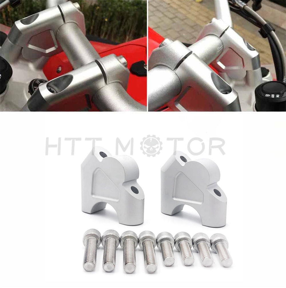HTTMT- 2pcs 32mm Handlebar Risers With Bolts fits for BMW R1200GS LC ADV Silver
