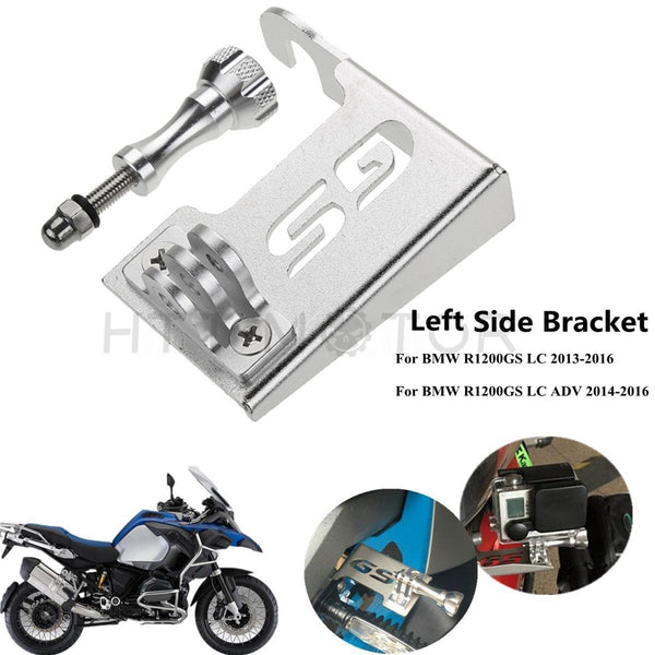 HTTMT- Front Left Bracket Stand for Go Pro Camera for BMW R1200GS LC 13-18 & ADV 14-18