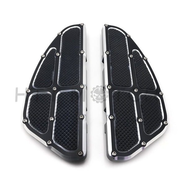 HTTMT- Rear Passenger Foot Pegs Floor Board Black For Harley Touring 1993-2017
