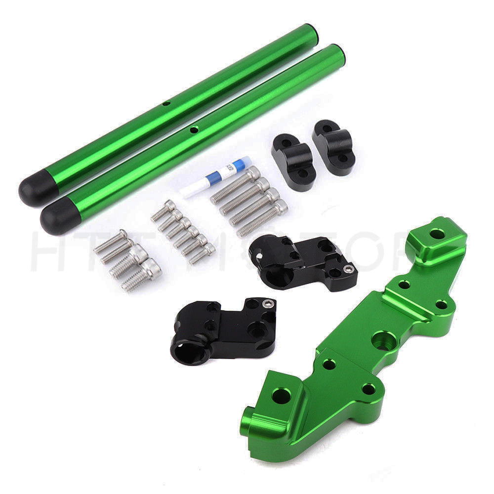 HTTMT- Green Separation Riser Clip On Adapter Plate Handlebar For Kawasaki Z900 2017
