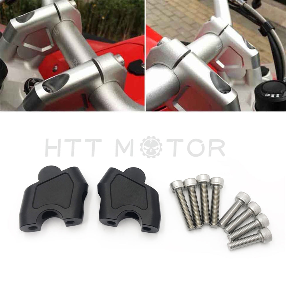 HTTMT- Riser Handlebar Higher Extend Adapter For Honda NC700S/X NC750X CB500X 12-17 Black