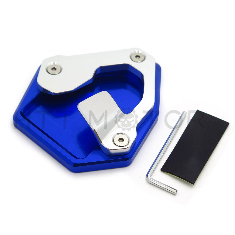 HTTMT- Side Pad Kickstand Stand Extension Plate For Honda CRF1000L Africa Twin 16-17 BLUE