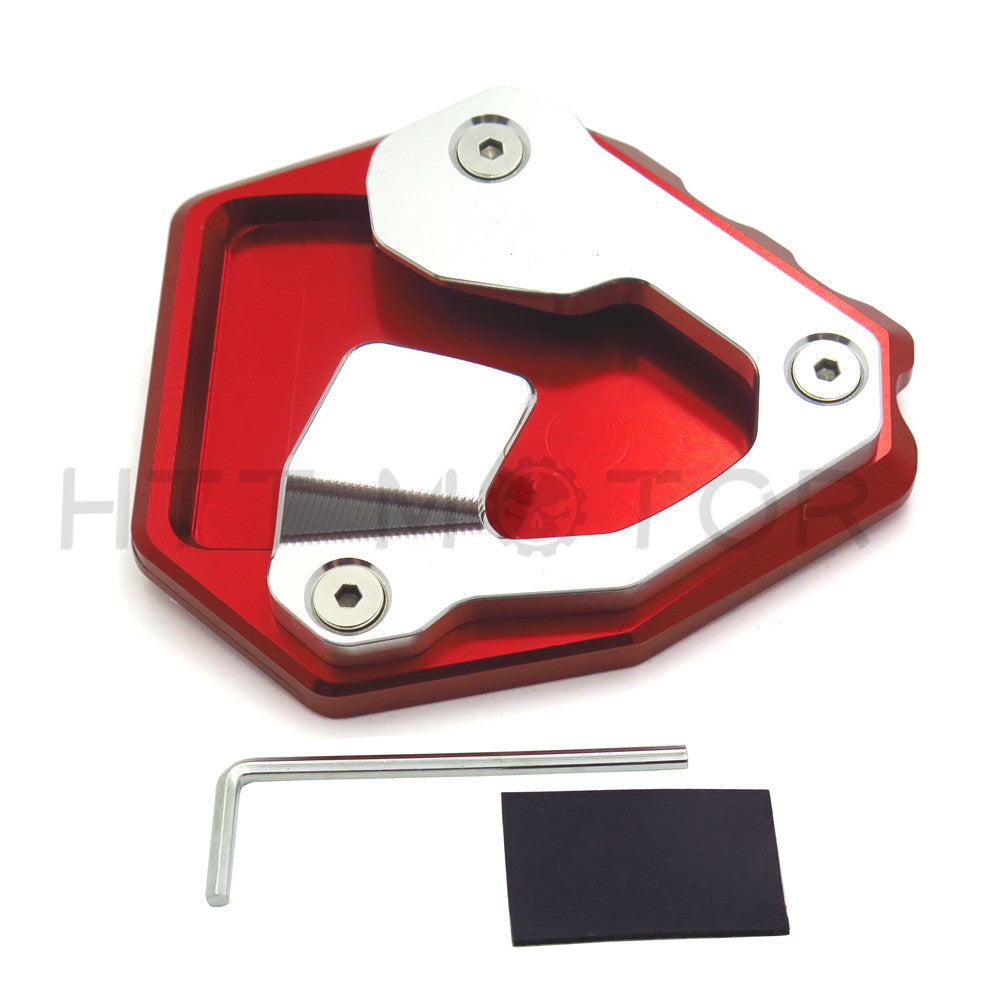 HTTMT- Side Pad Kickstand Stand Extension Plate For Honda CRF1000L Africa Twin 16-17 RED