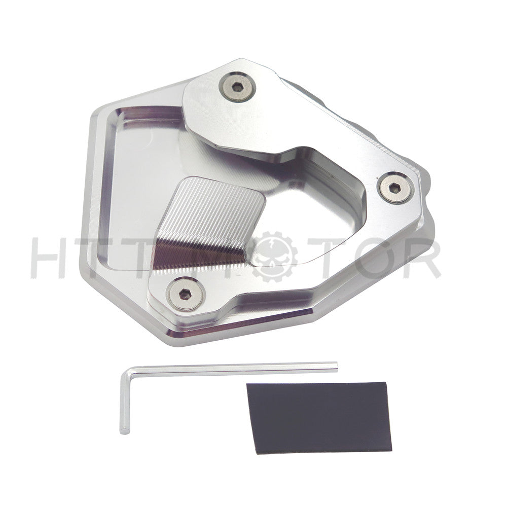 HTTMT- Side Pad Kickstand Stand Extension Plate For Honda CRF1000L Africa Twin 16-17 SILVER