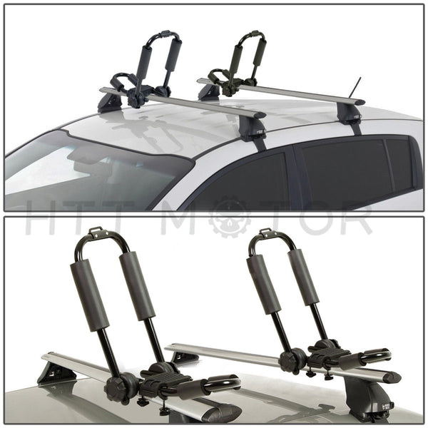 HTTMT- UNIVERSAL FOLDABLE KAYAK/SNOWBOARD/BOAT CARRIER ROOF RACK RAIL CROSS BAR J-BAR