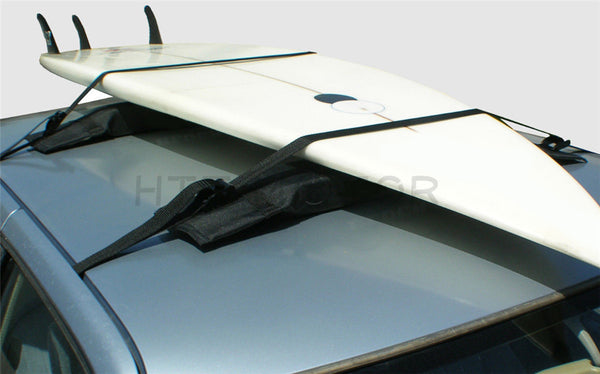 HTTMT- 2 Surfboard Soft Wrap Roof Racks Rax Any Car Automobile SUV Minivan Van Sedan