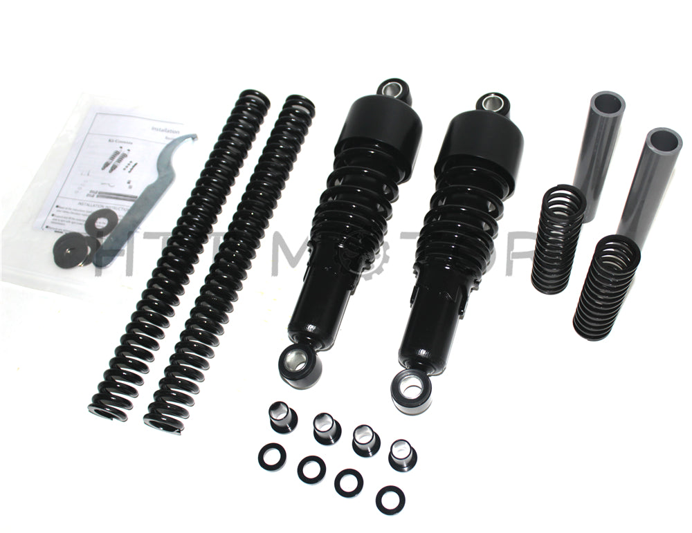 "HTTMT- Black Slammer Lowering Kit 10.5"" Shocks for 91-05 Harley Dyna FXD(NO FXDX/FXDWG)"