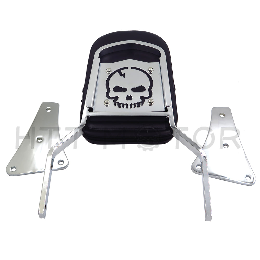 Skull Backrest Sissy Bar for Kawasaki Vulcan 1500 Classic All Years 1986-2013