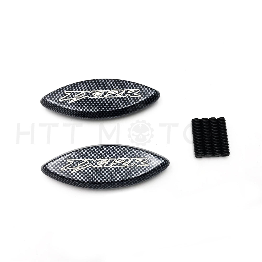 HTTMT- Mirror Block Off Base For 2000-2006 Kawasaki Ninja Zx-12R Zx12R Carbon Style