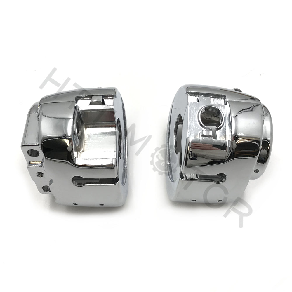 Switch Housing Cover Kit For 14-17 Harley Touring Aftermarket #71500185 Chrome