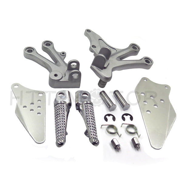 HTTMT- SILVER FRONT RIDER FOOT REST PEG BRACKET FOR Kawasaki Ninja ZX10R 2004 2005