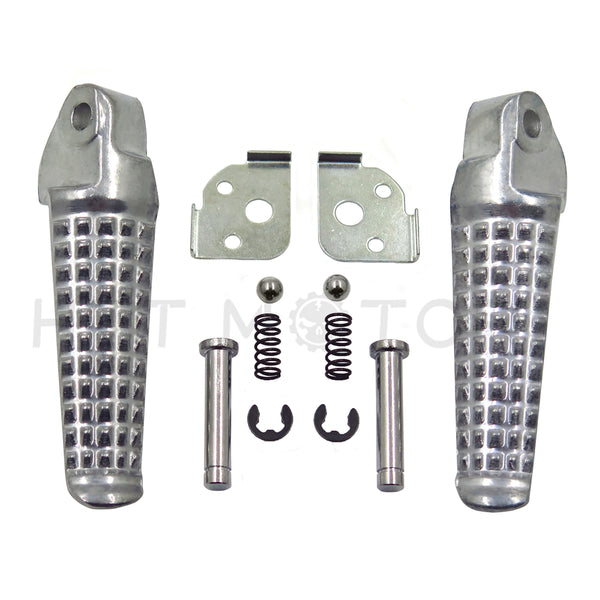 HTTMT- Motorcycle Rear Foot Peg Footrest for Honda CBR600F4 2003-2004 Silver