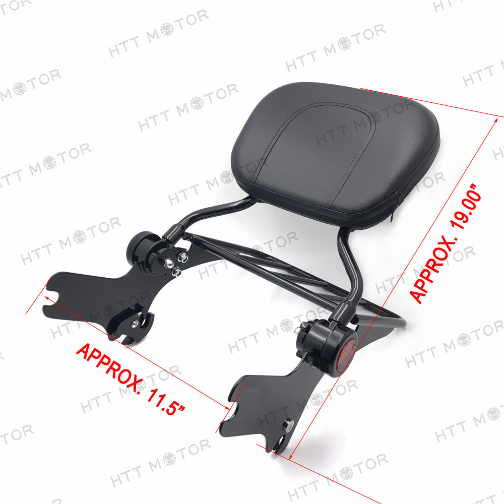 HTTMT- Adjustable Backrest Sissy Bar w/ Luggage Rack for 97-08 Touring Black